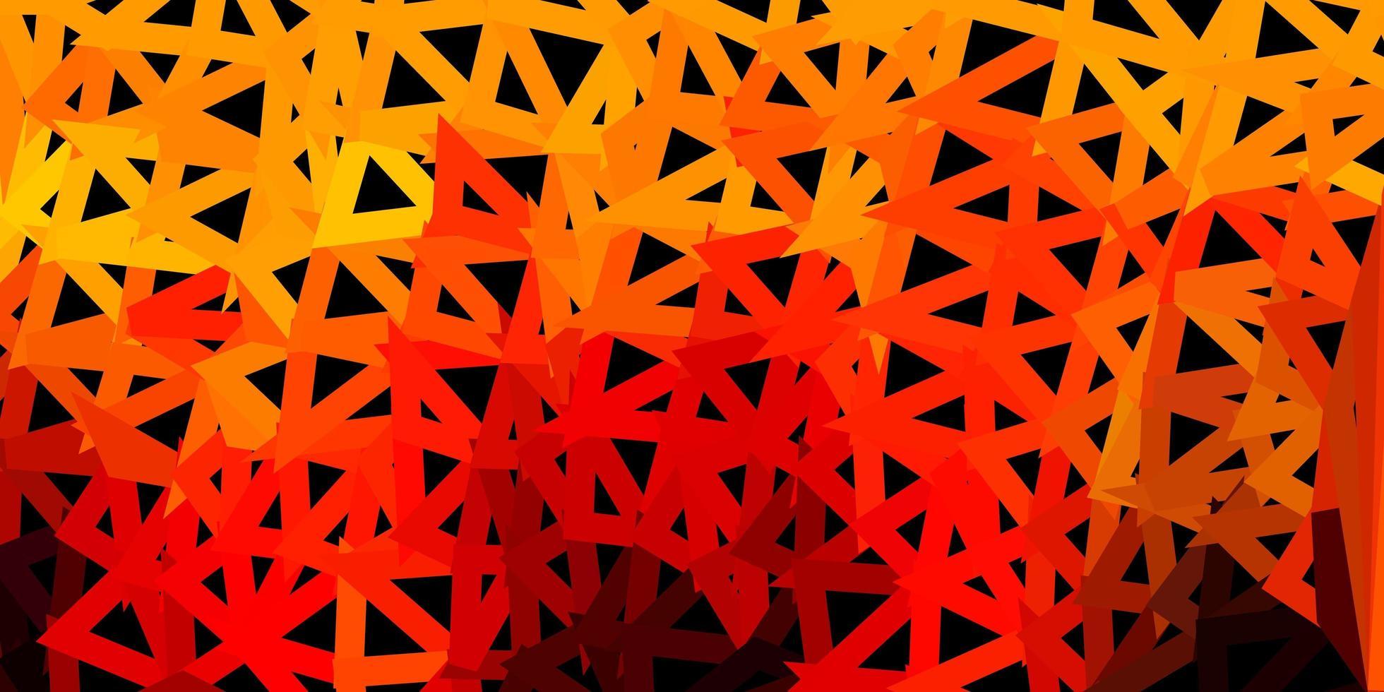 texture de polygone dégradé vecteur orange foncé.