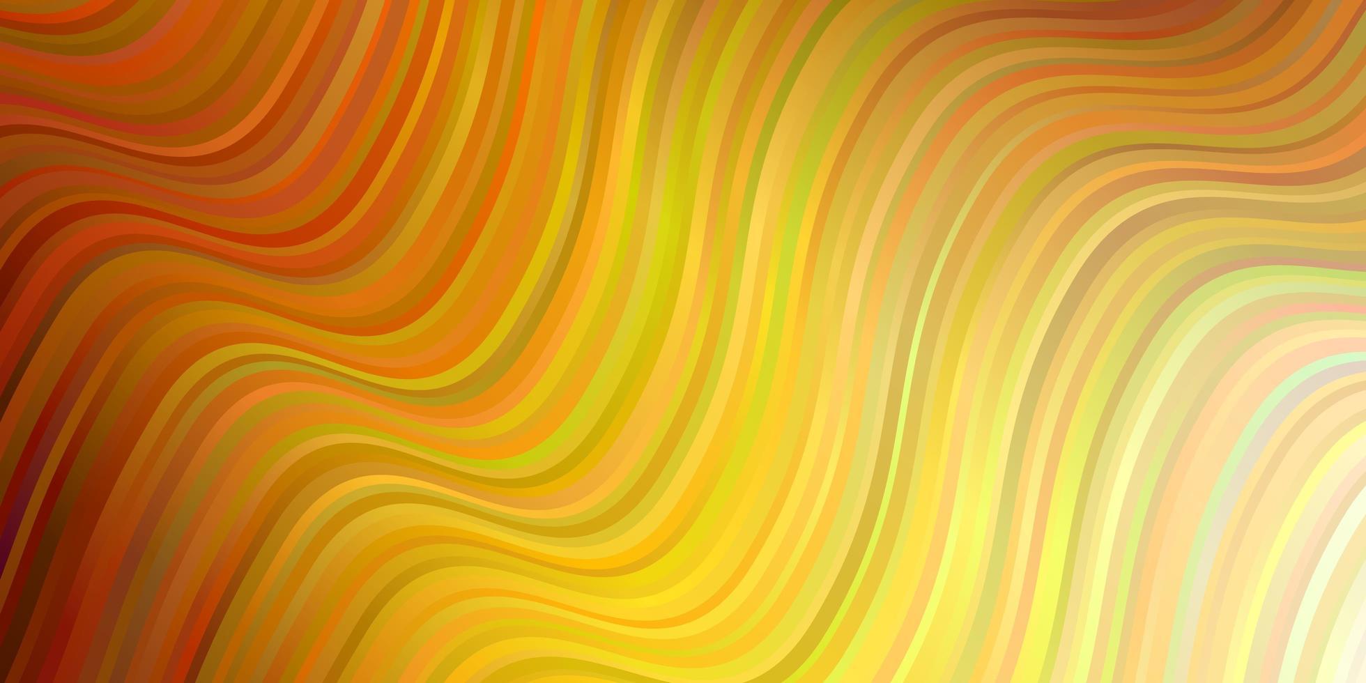 modèle de vecteur orange clair avec des lignes tordues.