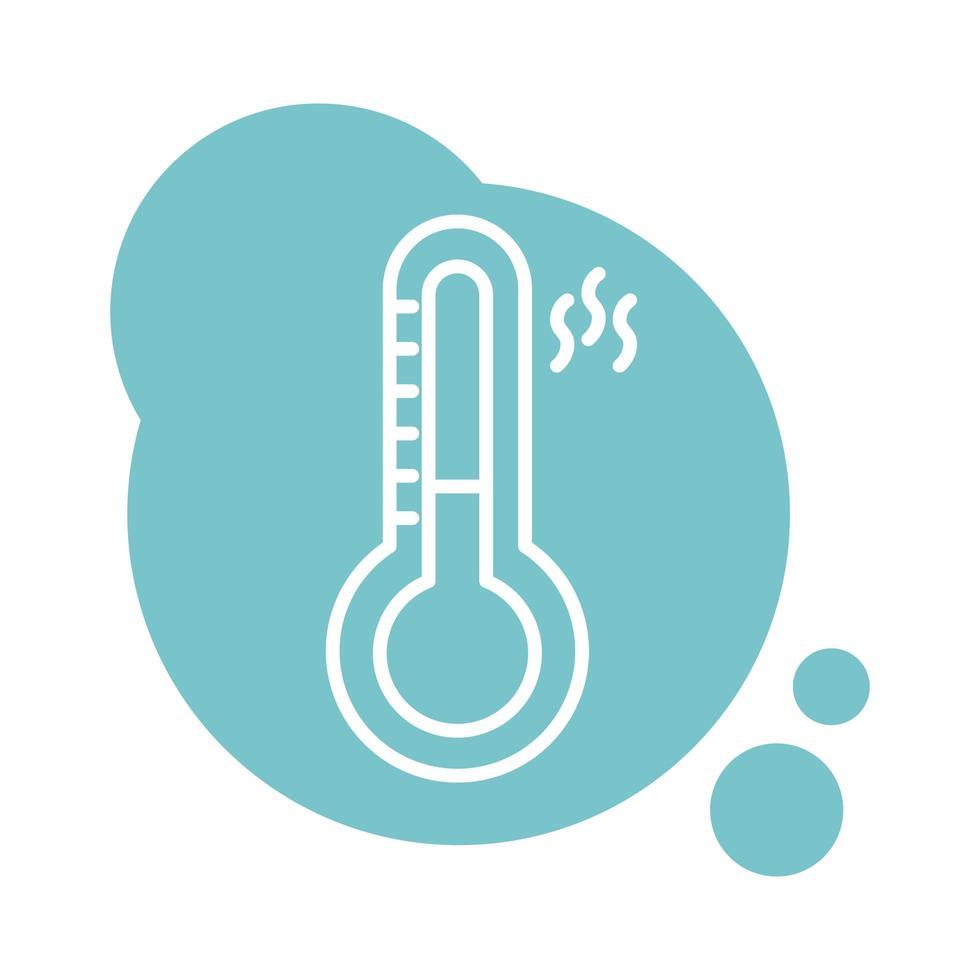 style de bloc de mesure de température de thermomètre vecteur