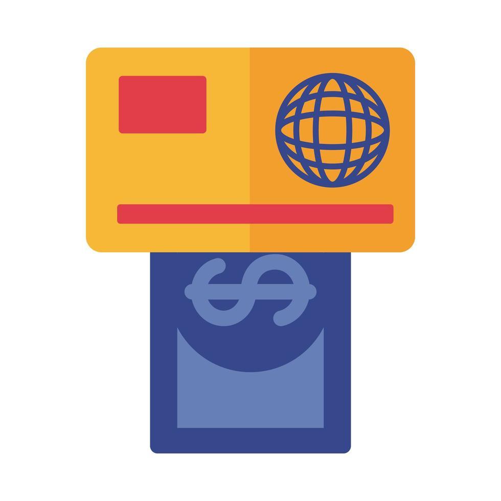 carte de crédit et paiement de facture style plat en ligne vecteur