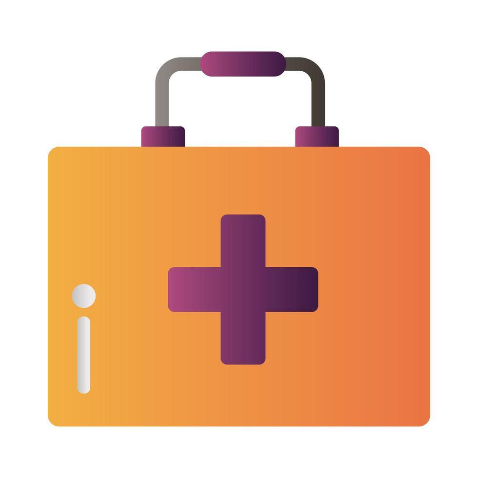 icône de kit médical vecteur