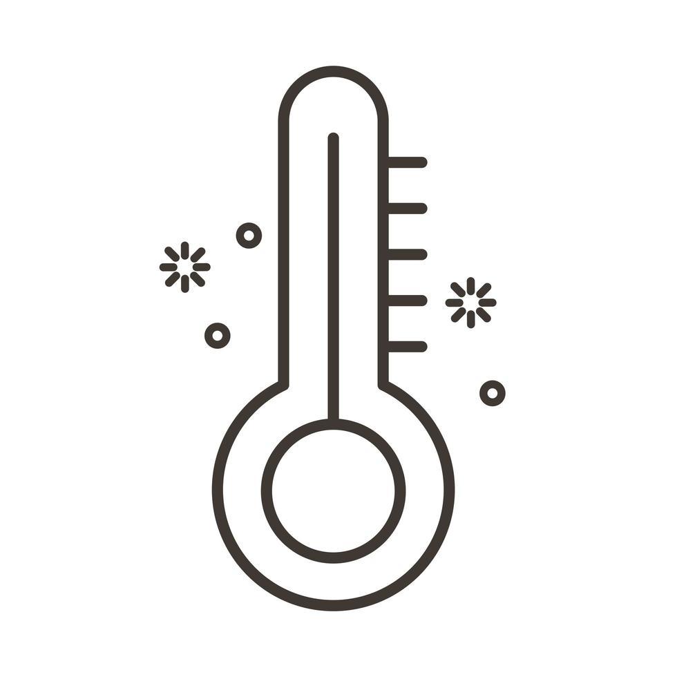 thermomètre pour mesurer l'icône de température vecteur