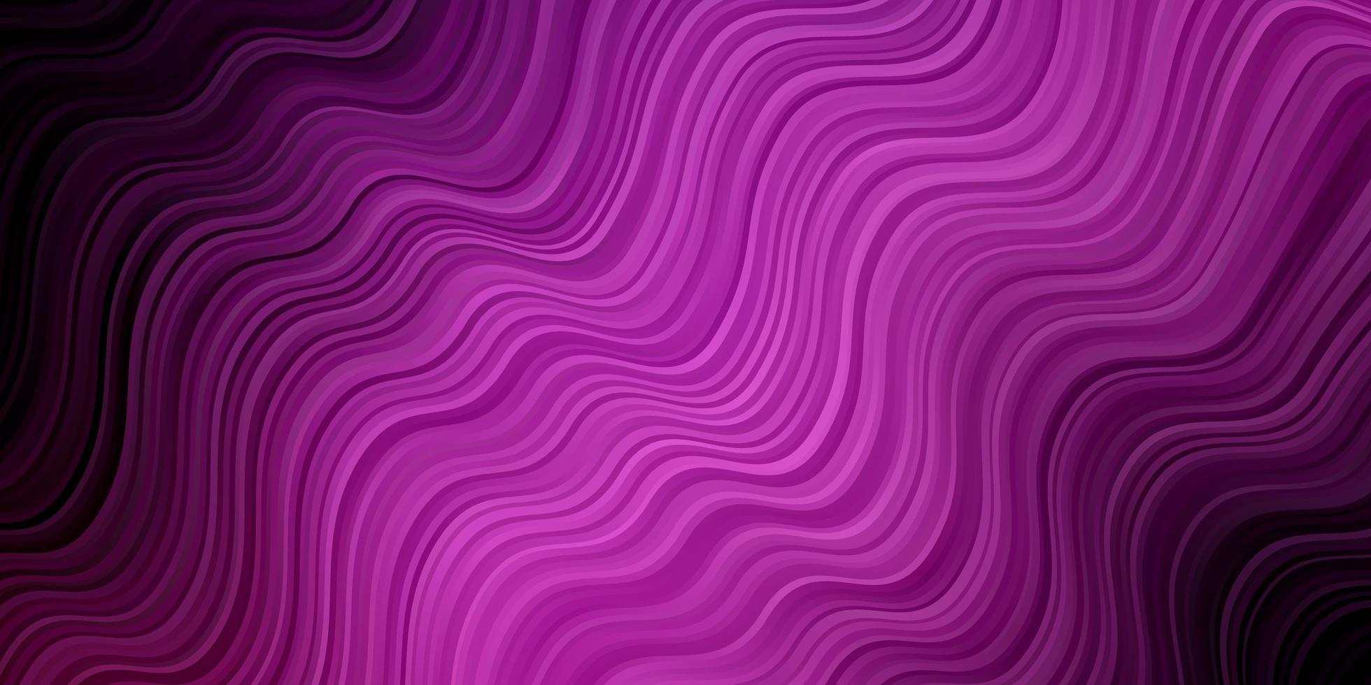 modèle vectoriel violet clair, rose avec des lignes courbes.