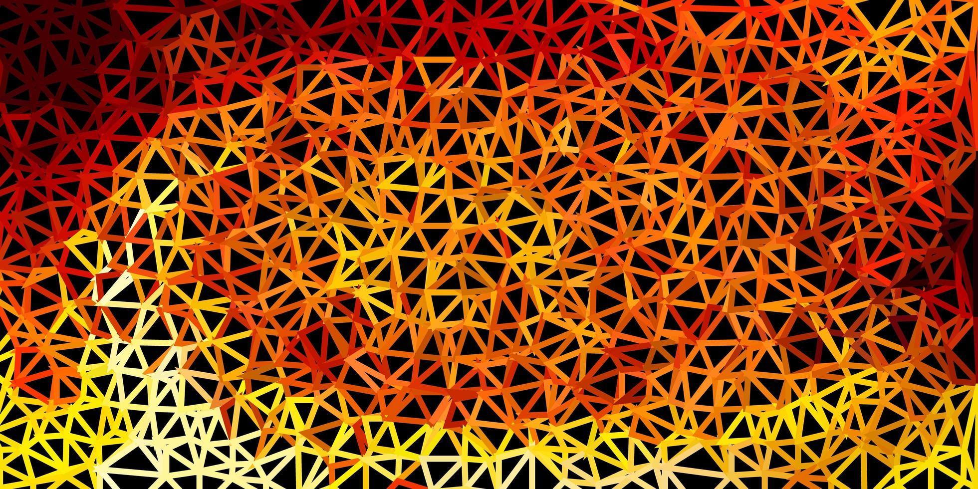 motif de triangle abstrait vecteur orange clair.