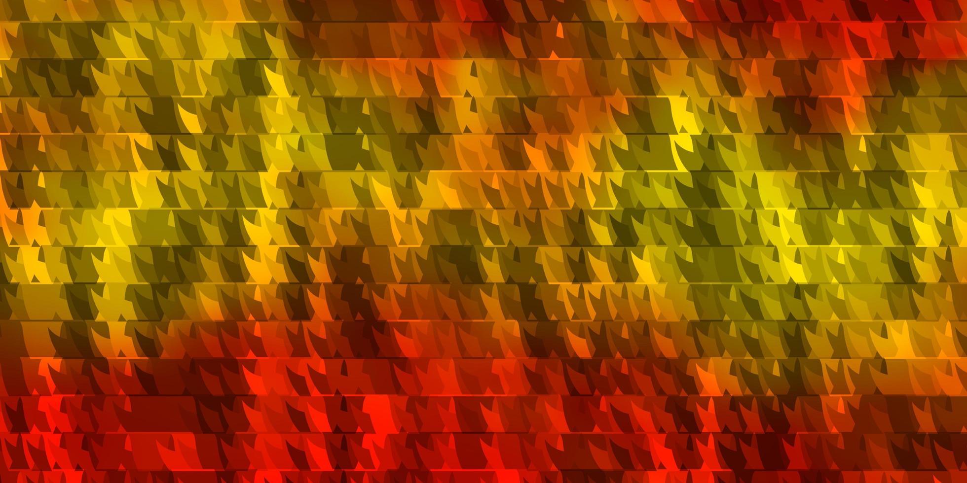 texture vecteur orange clair avec des lignes, des triangles.