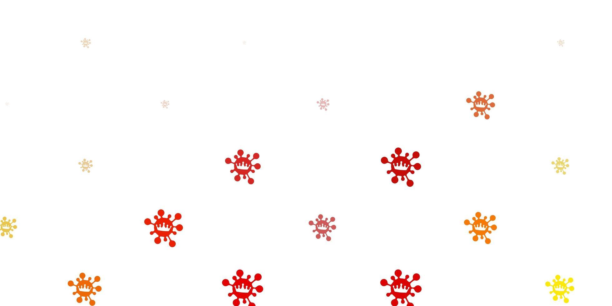 toile de fond de vecteur marron clair avec symboles de virus