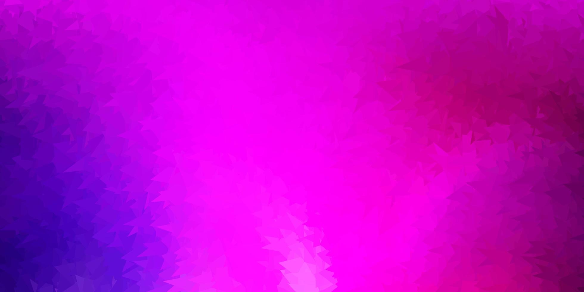 Disposition polygonale géométrique de vecteur violet foncé, rose.