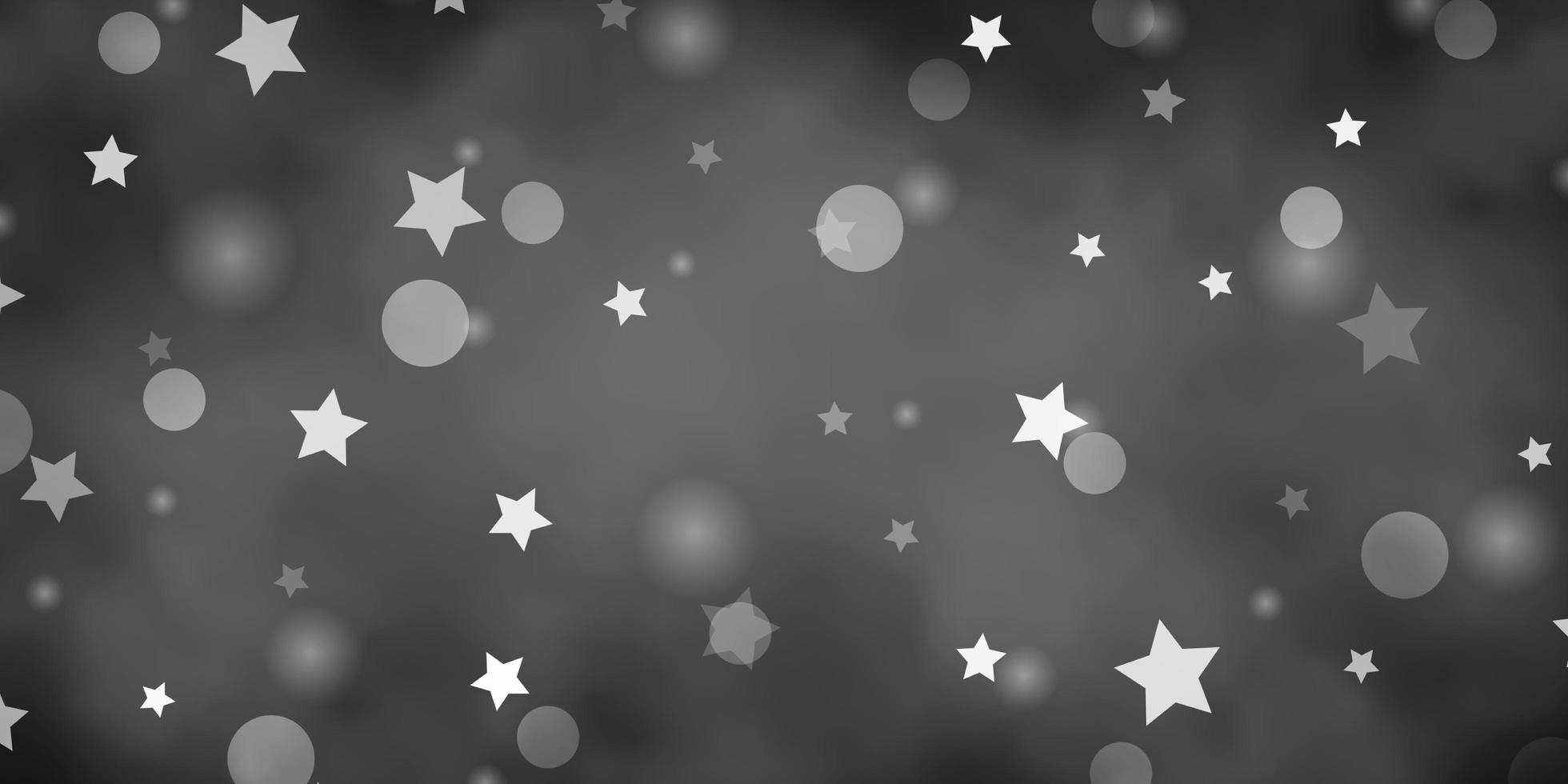 texture de vecteur gris clair avec des cercles, des étoiles.