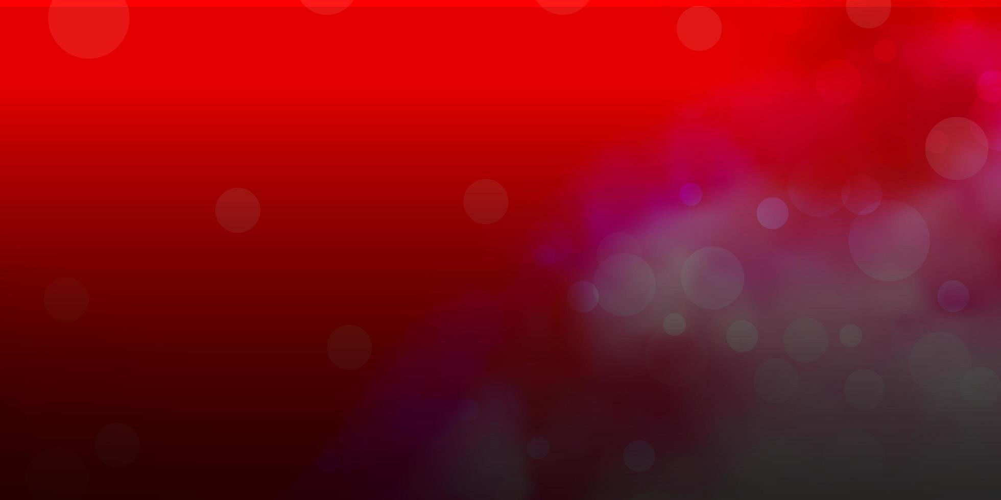 modèle vectoriel rouge clair avec des sphères.