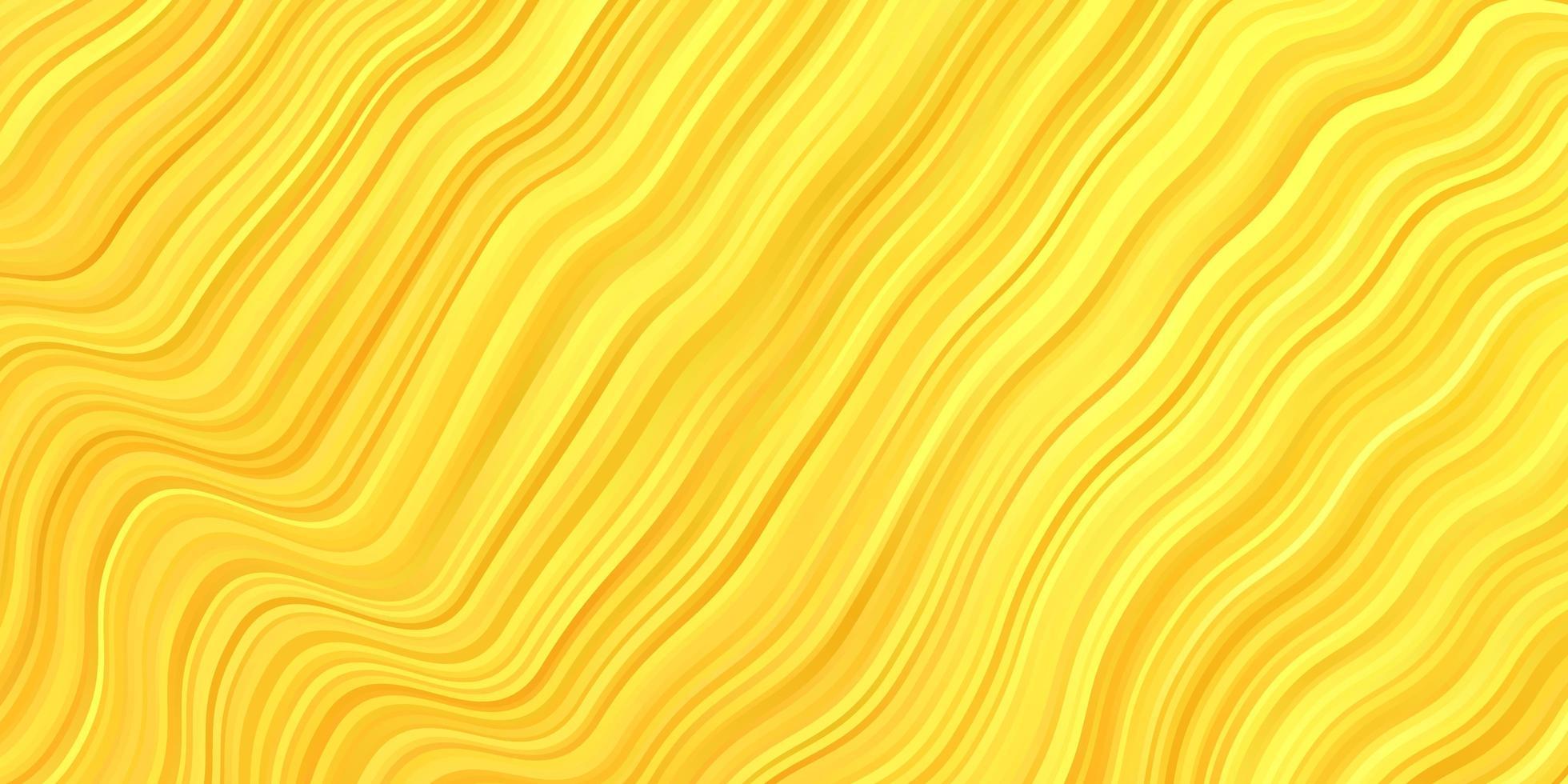 disposition de vecteur jaune foncé avec arc circulaire.