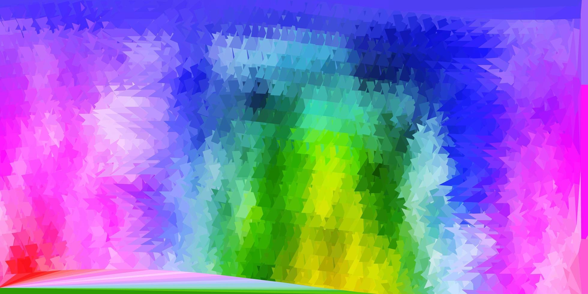 fond de triangle abstrait vecteur multicolore clair.