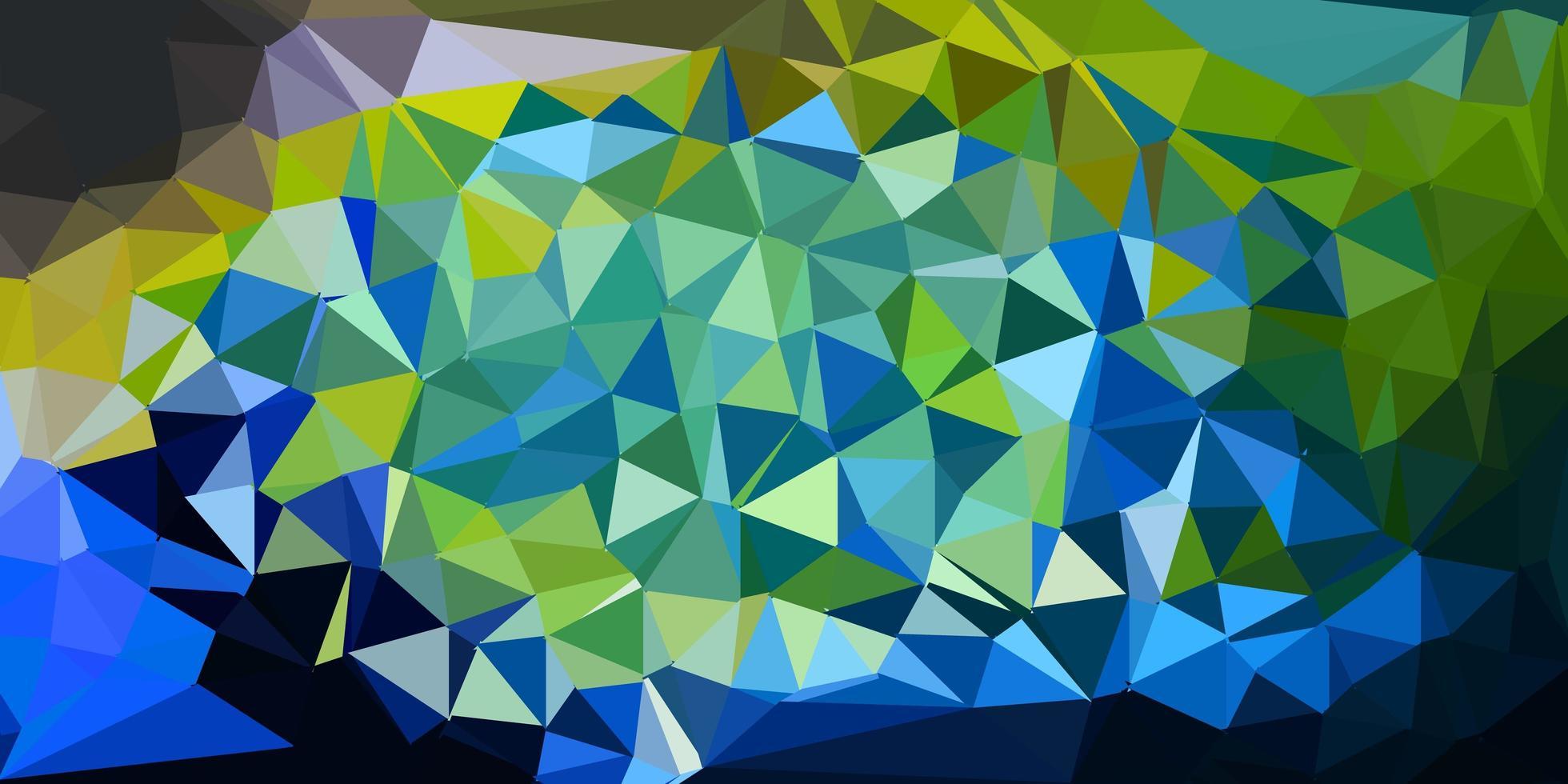 toile de fond de mosaïque triangle vecteur bleu clair, jaune.