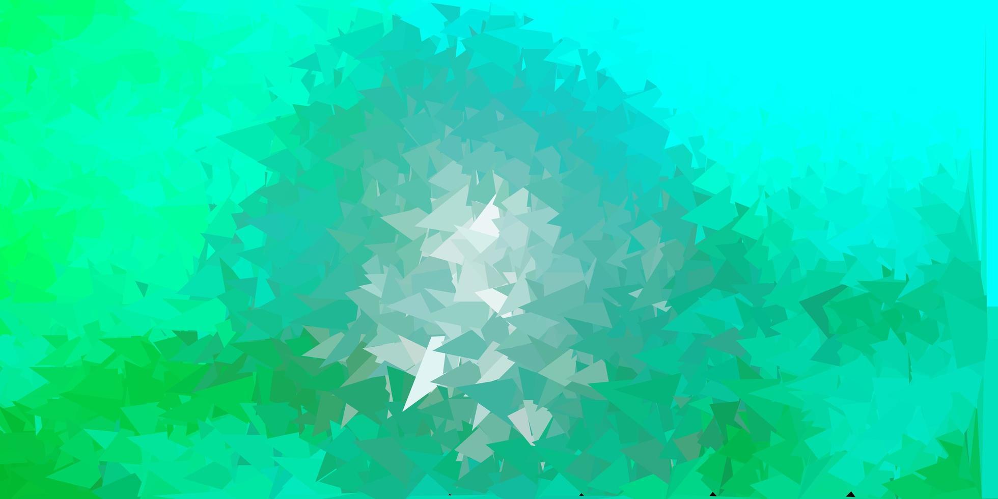 fond polygonale vecteur vert clair.