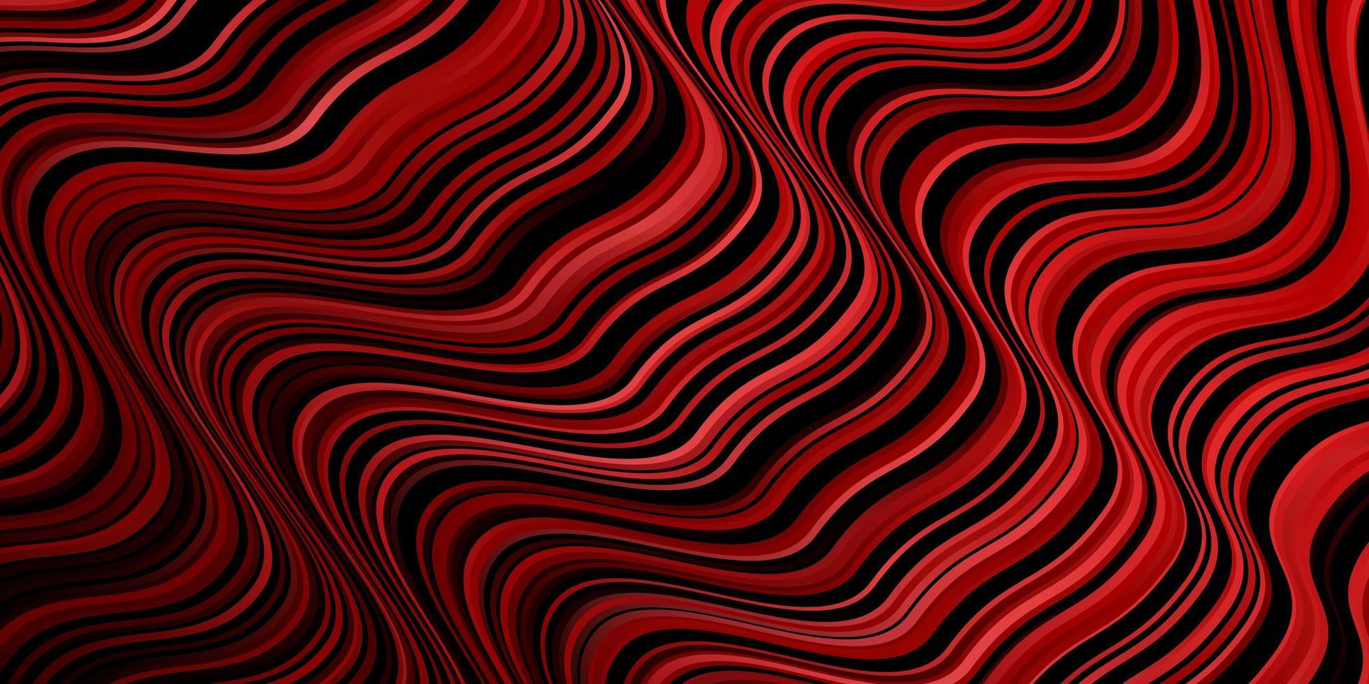 toile de fond de vecteur rouge foncé avec des lignes pliées.