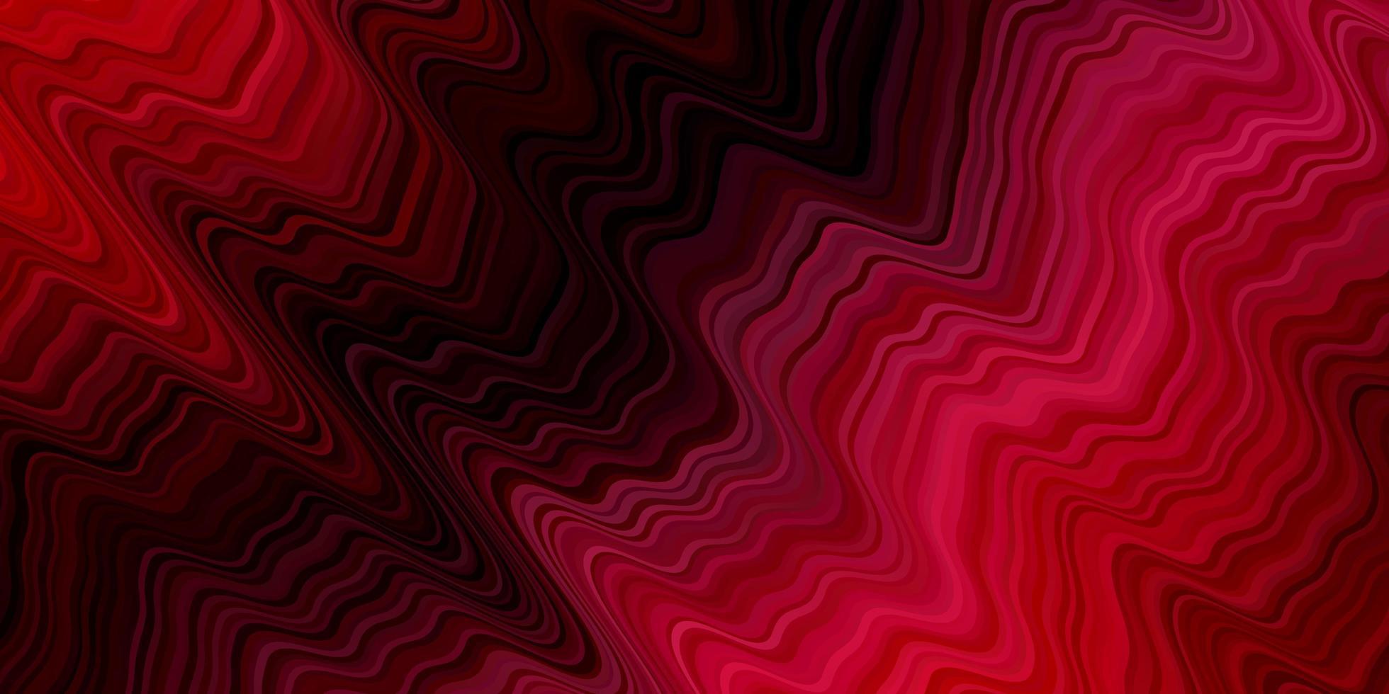 fond de vecteur rouge foncé avec des lignes courbes