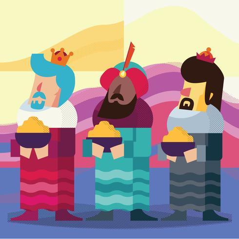 Les Trois Rois d'Orient Illustration vecteur