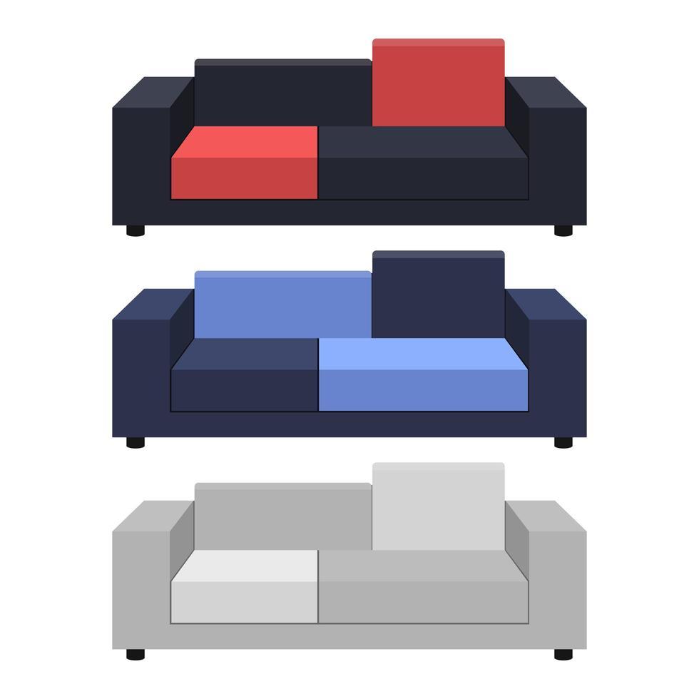 illustration de conception de vecteur de canapé isolé sur fond blanc