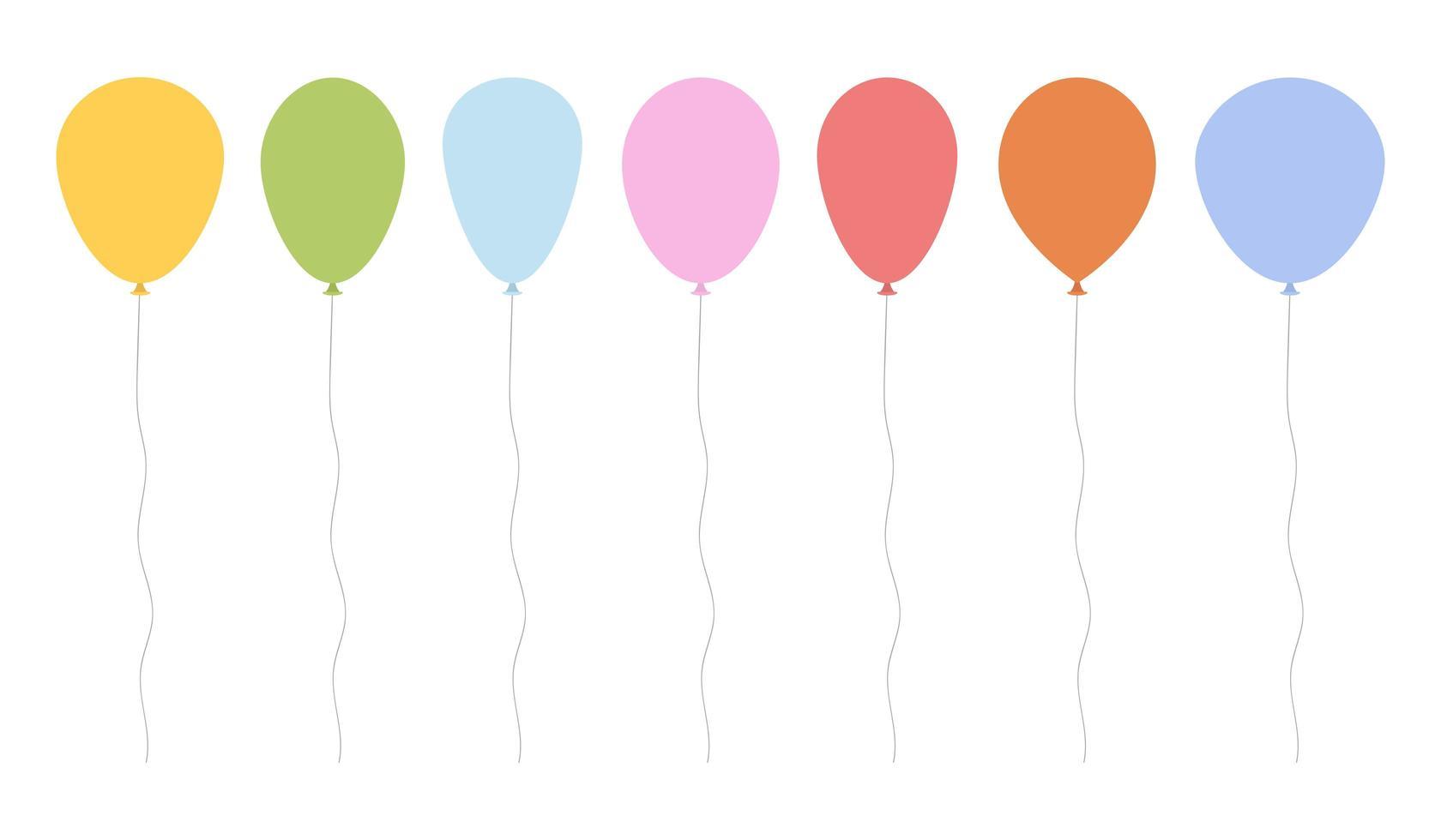 ballons set vector design illustration isolé sur fond blanc