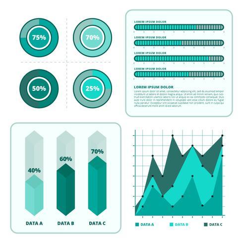 Modèle de vecteur de visualisation de données