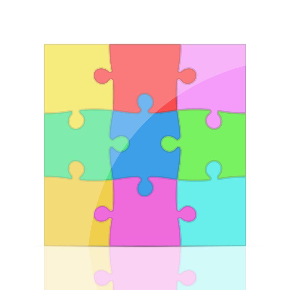 illustration de conception de vecteur de puzzle isolé sur fond blanc
