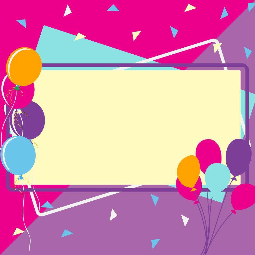 cadres d'anniversaire de célébration vecteur
