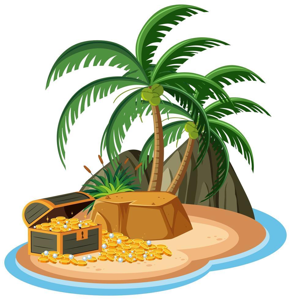 trésor sur l & # 39; île isolée vecteur