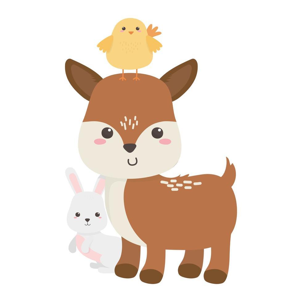 mignon, mouton, poulet vecteur
