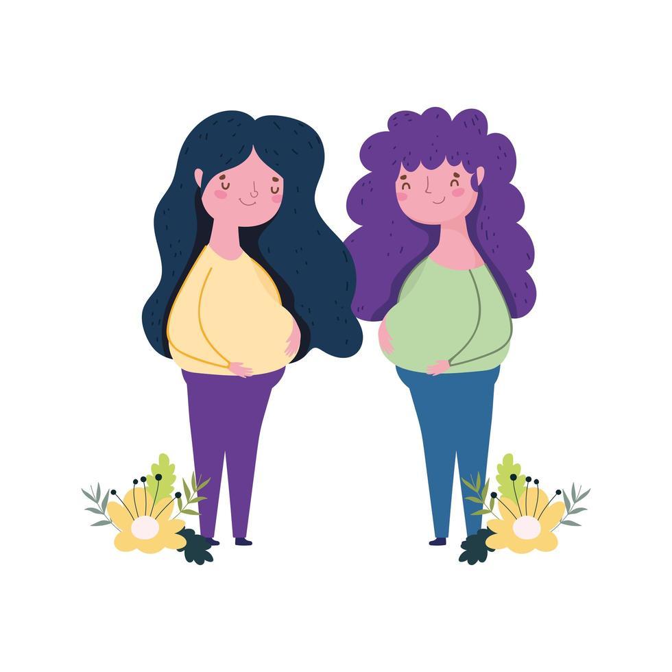 bonne fête des mères, conception de célébration de décoration de fleurs de femmes vecteur
