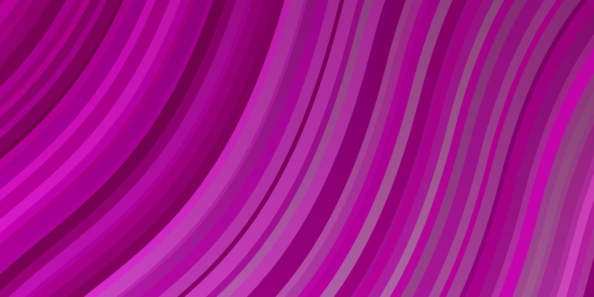 modèle vectoriel rose clair avec des lignes courbes.