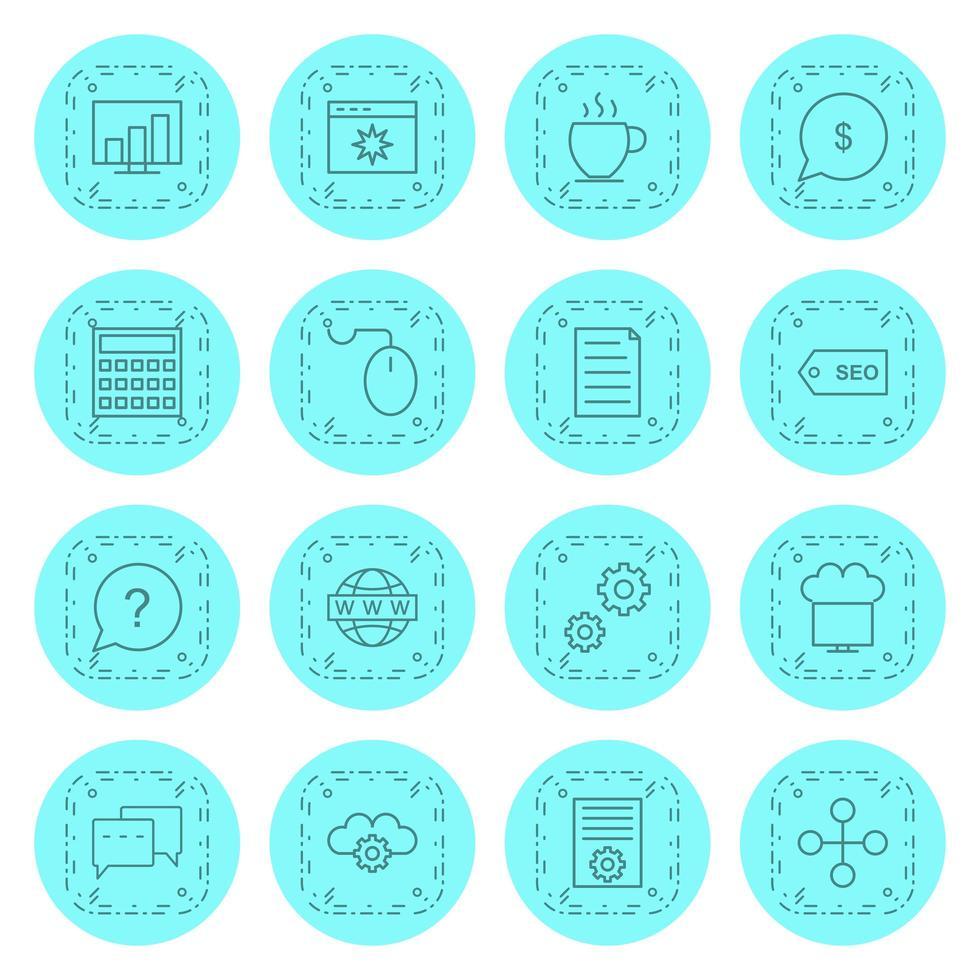 ensemble d'icônes d'optimisation des moteurs de recherche à usage personnel et commercial. vecteur