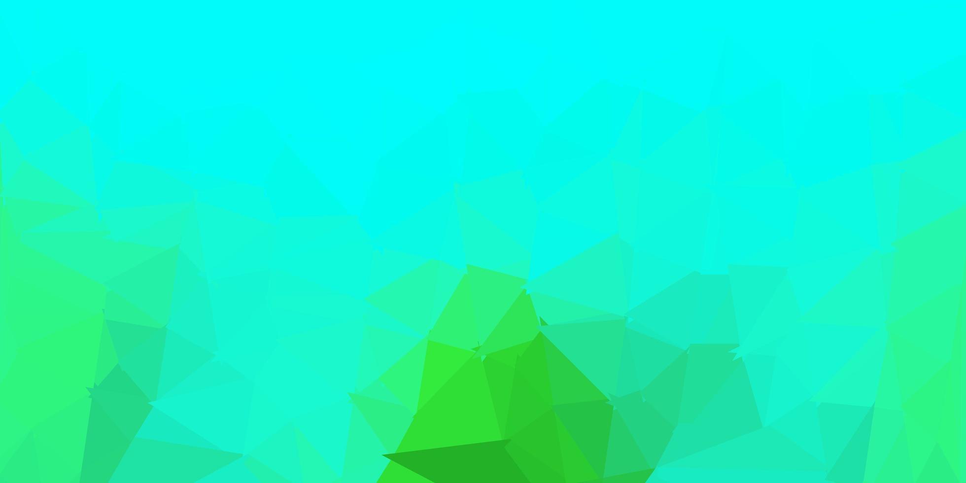 conception polygonale géométrique vecteur vert clair.