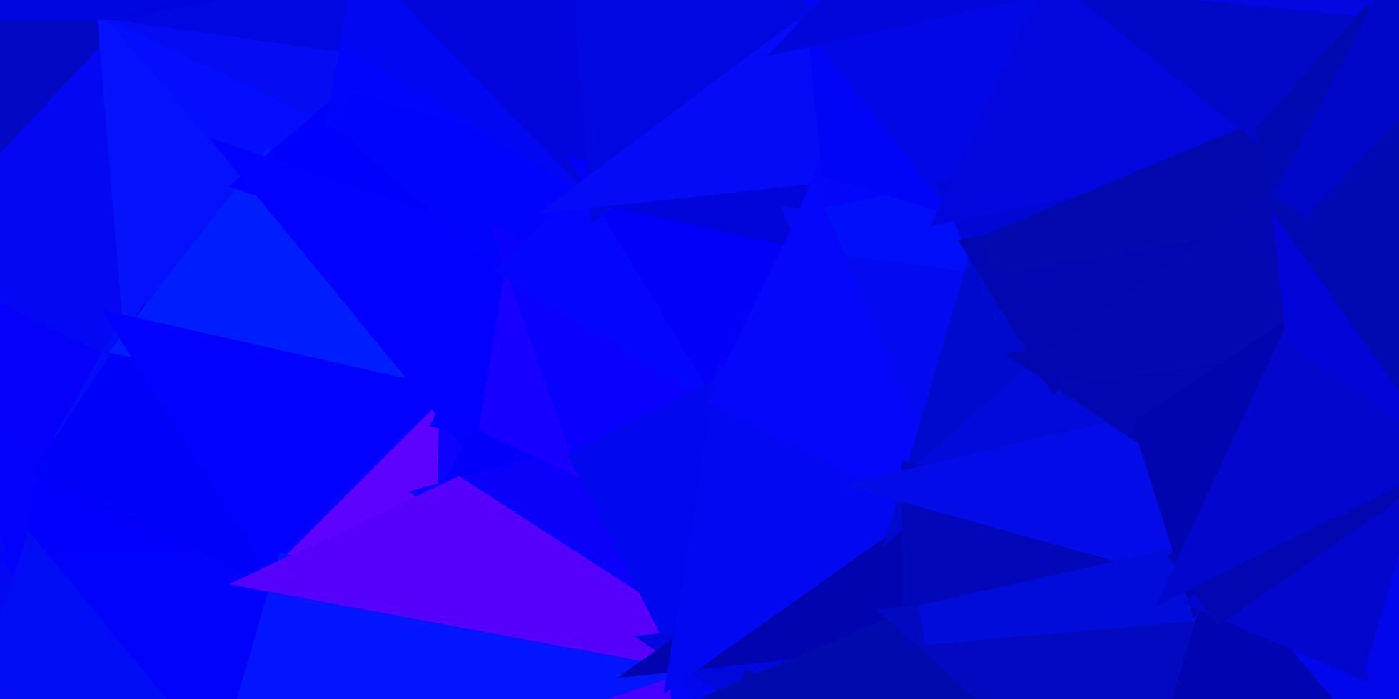 motif de mosaïque triangle vecteur bleu foncé.