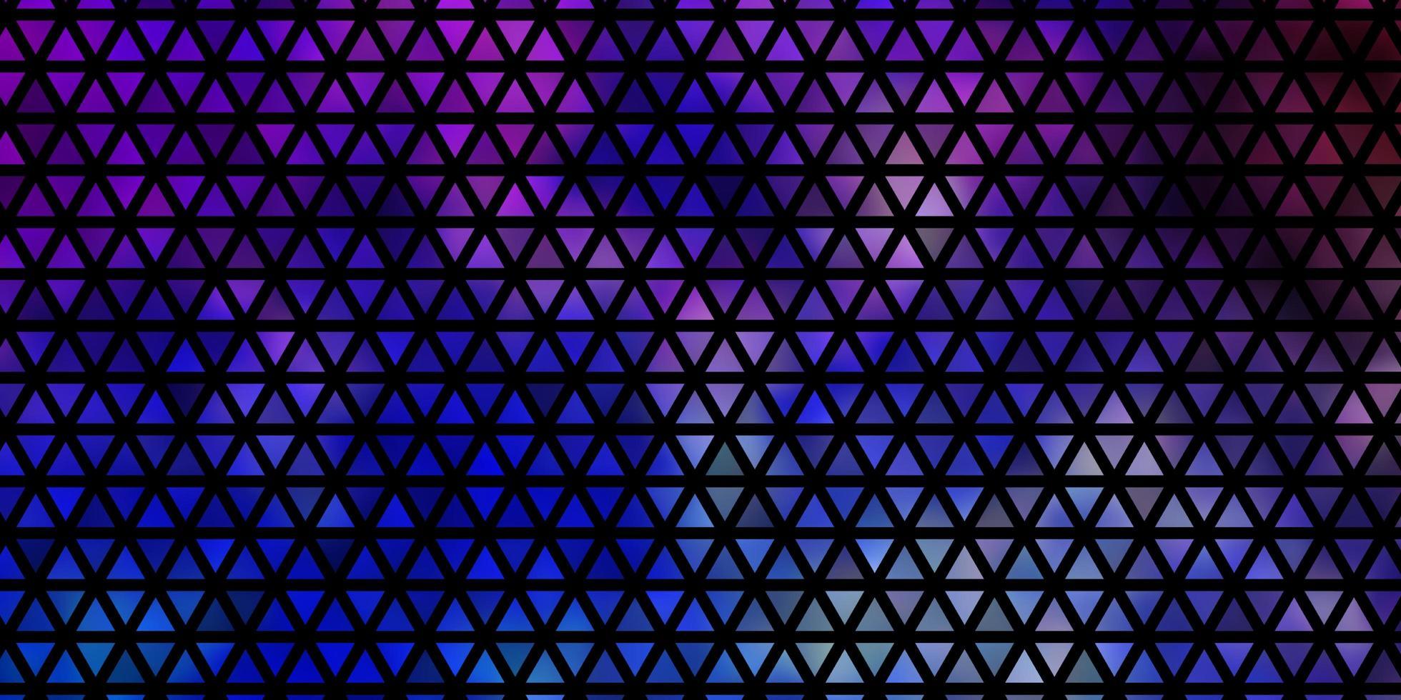 texture de vecteur multicolore léger avec un style triangulaire.