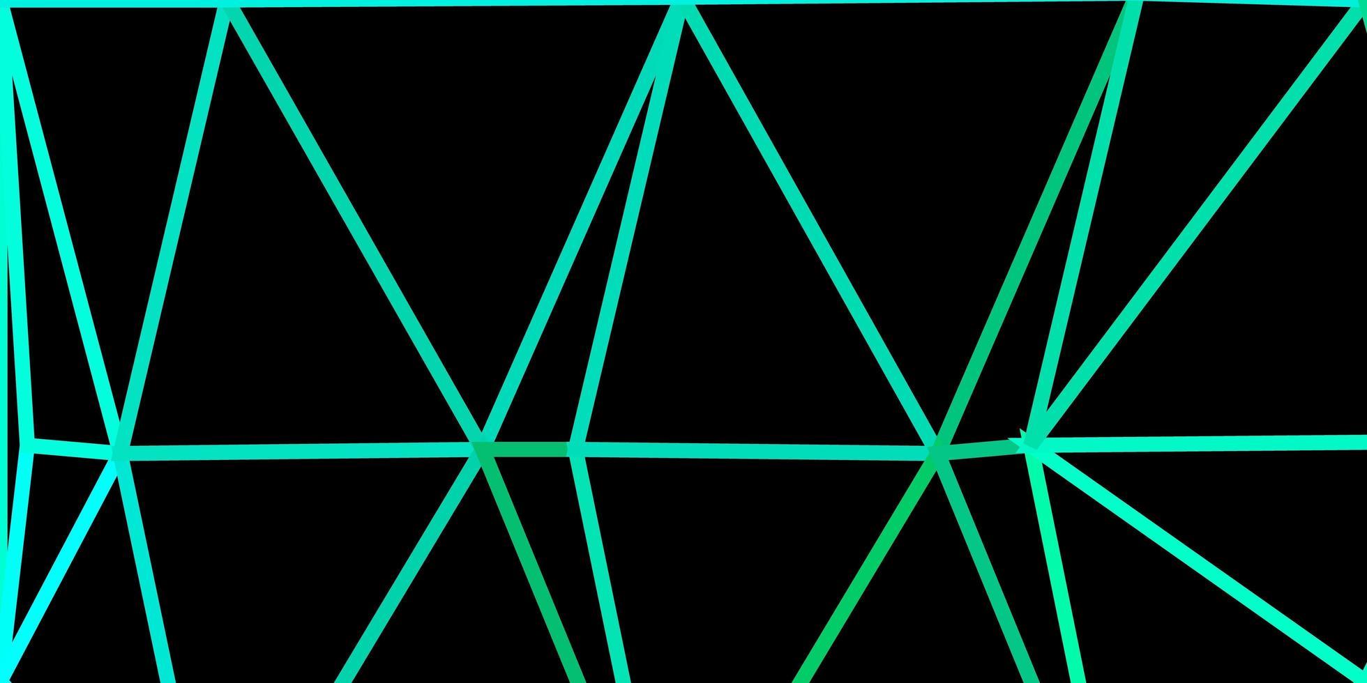disposition de triangle poly vecteur vert clair.