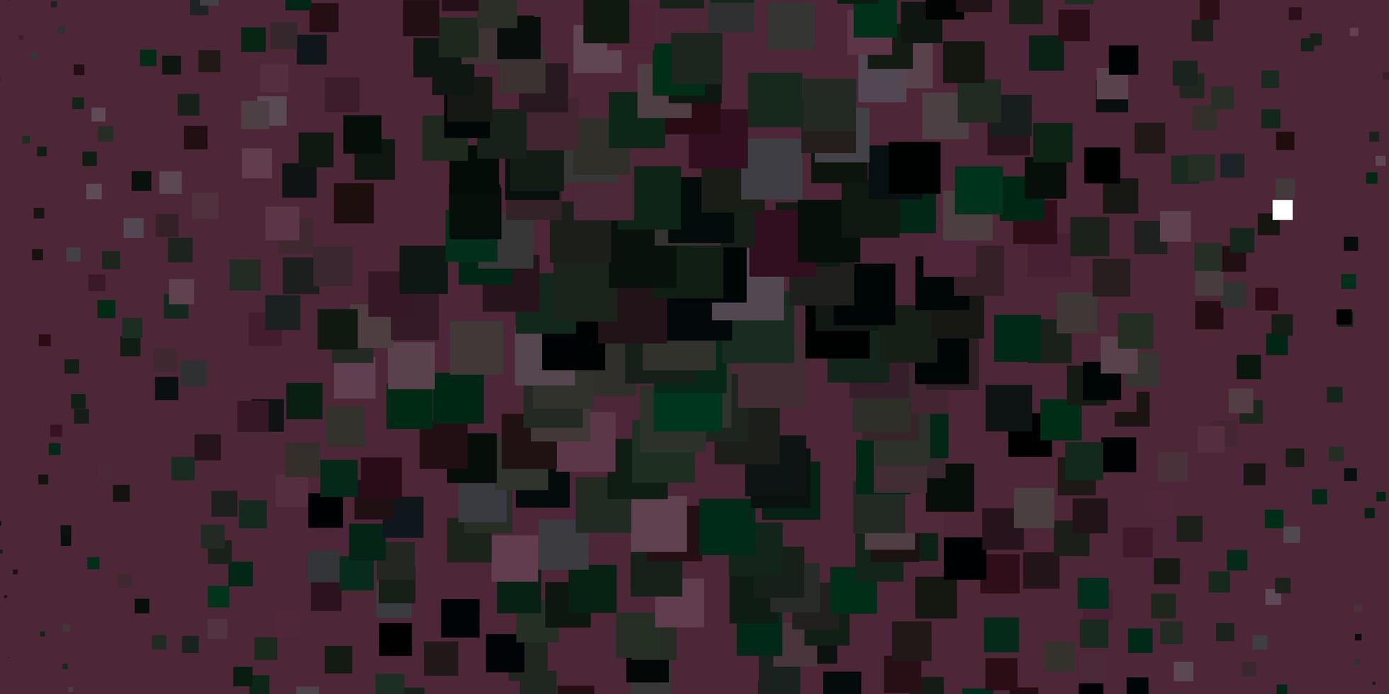 toile de fond de vecteur rose clair, vert avec des rectangles.
