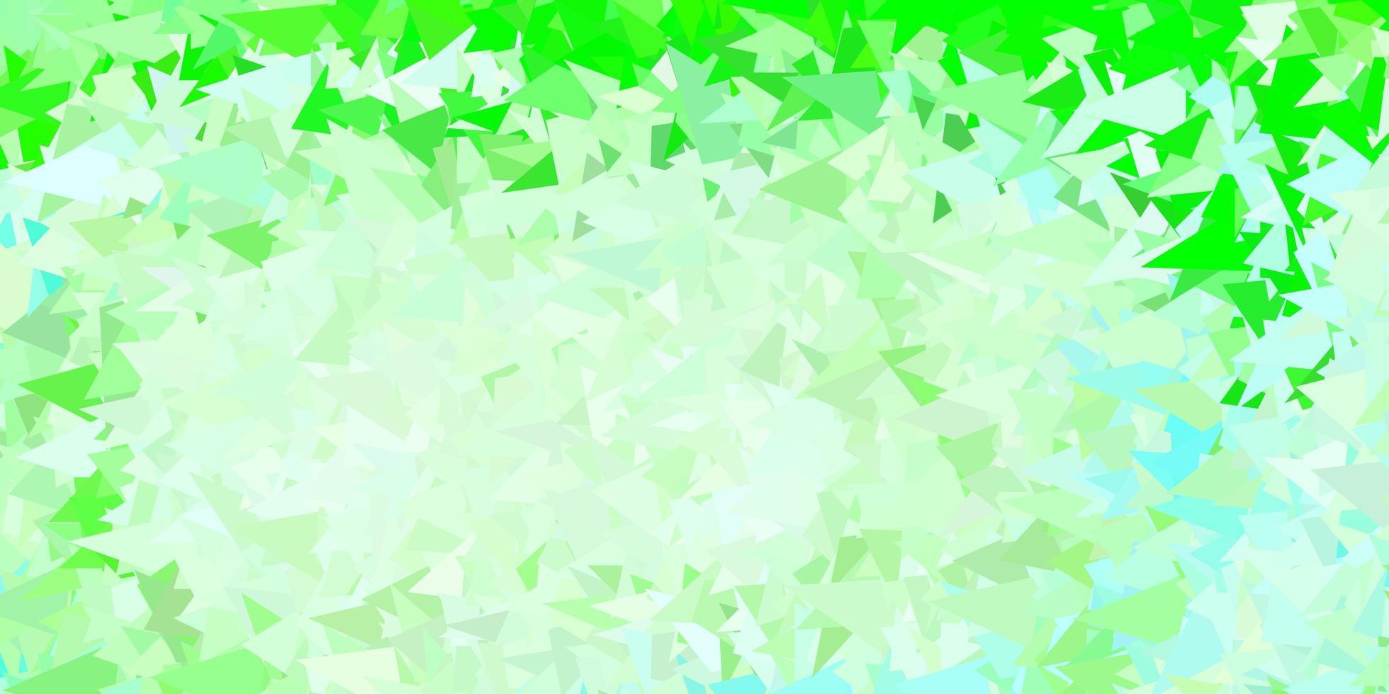 modèle de triangle abstrait vecteur vert clair.