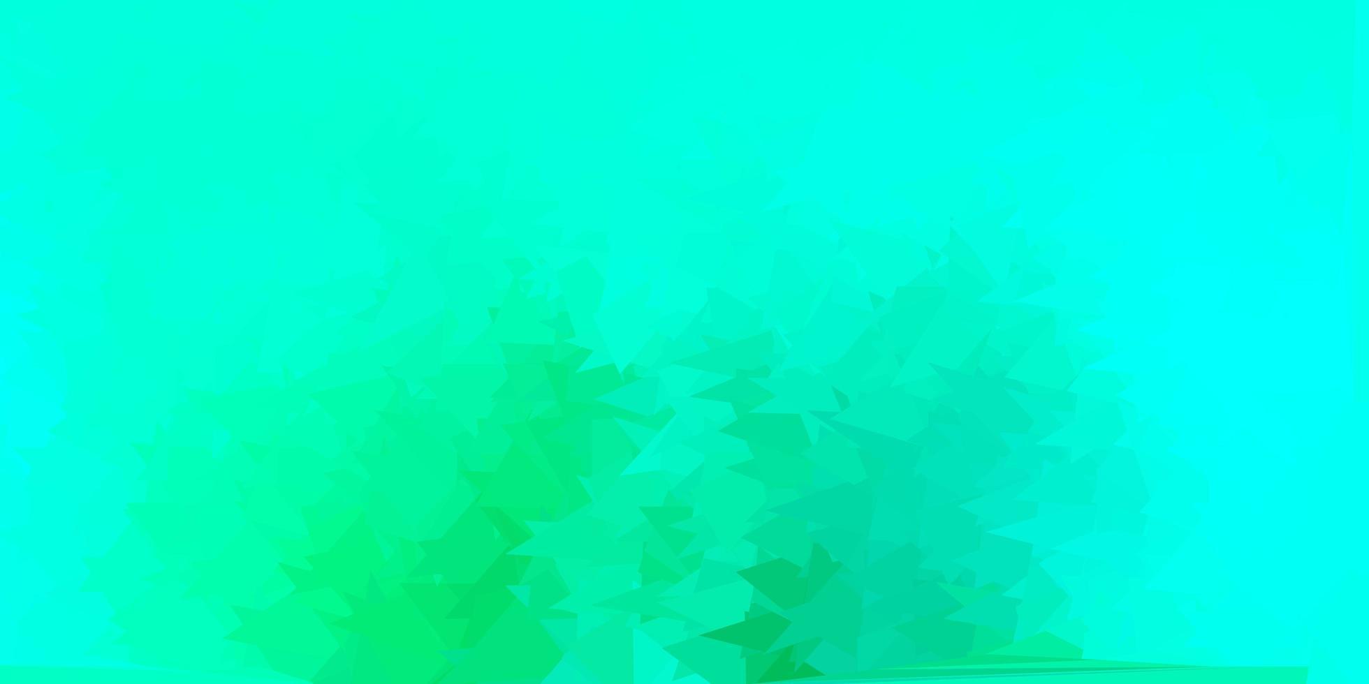 modèle de triangle poly vecteur vert clair.