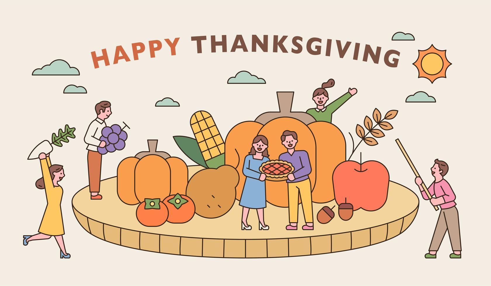 une bannière de Thanksgiving vecteur