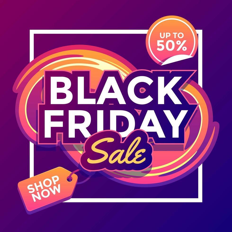 modèle de vente vendredi noir vecteur