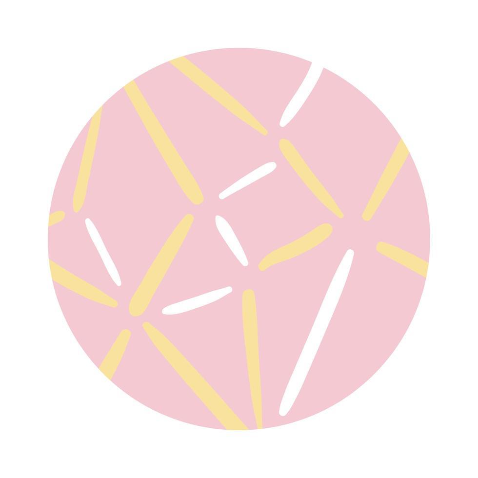 style de bloc de motif organique de lignes vecteur