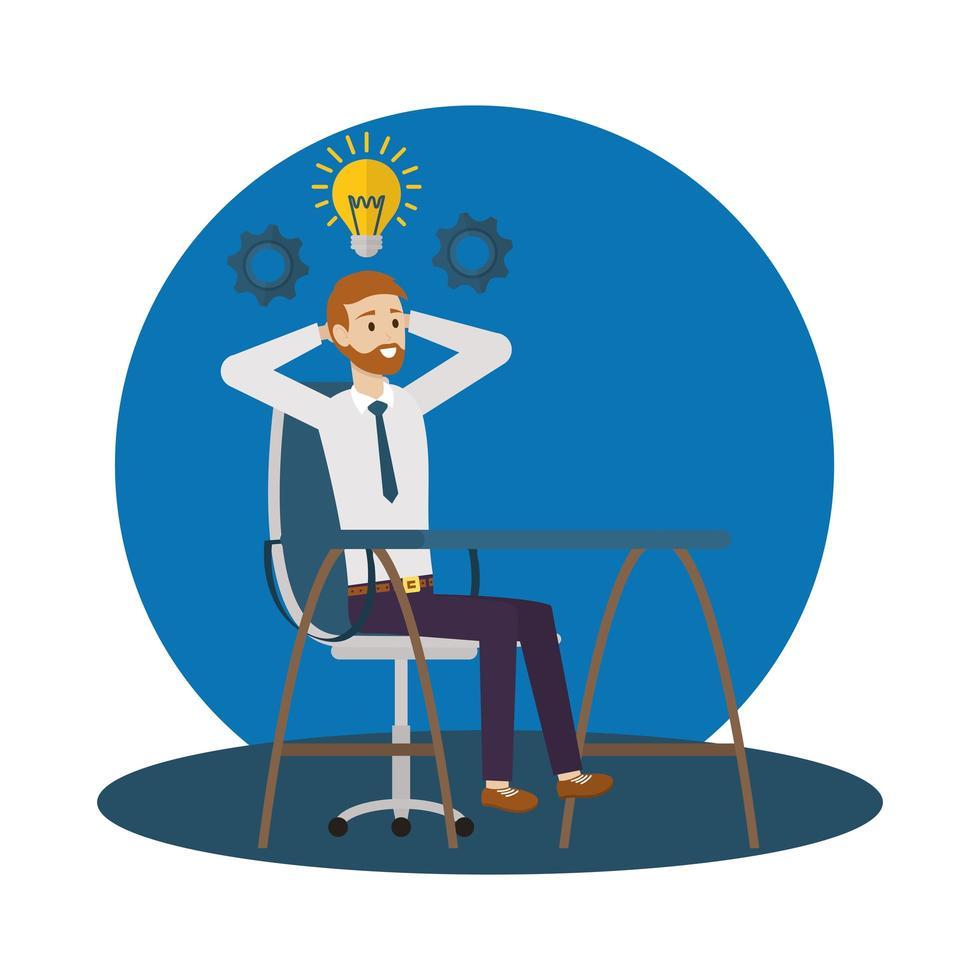 conception de dessin animé avatar homme d & # 39; affaires vecteur