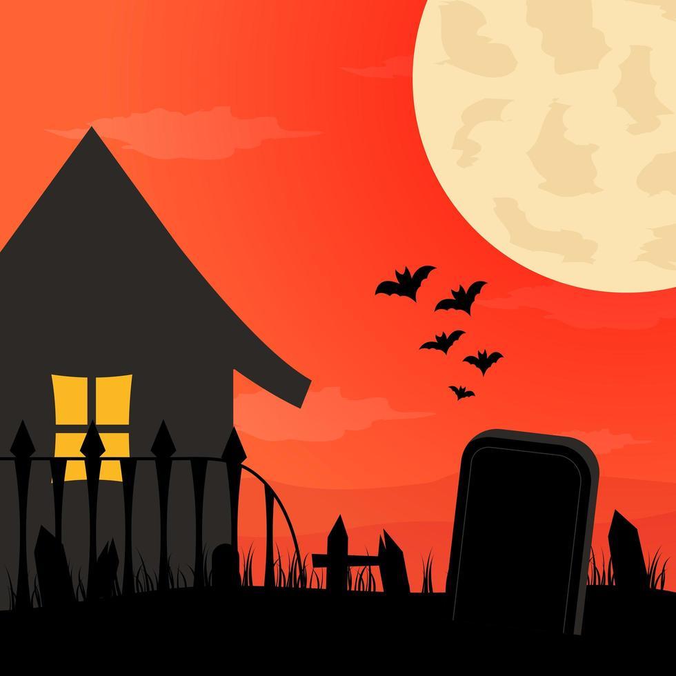 fond d'halloween design plat vecteur