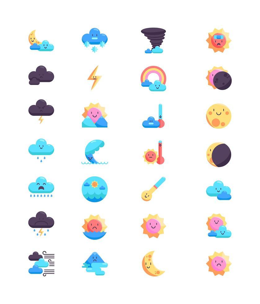 Ensemble D Icones Meteo Style Colore Telecharger Vectoriel Gratuit Clipart Graphique Vecteur Dessins Et Pictogramme Gratuit