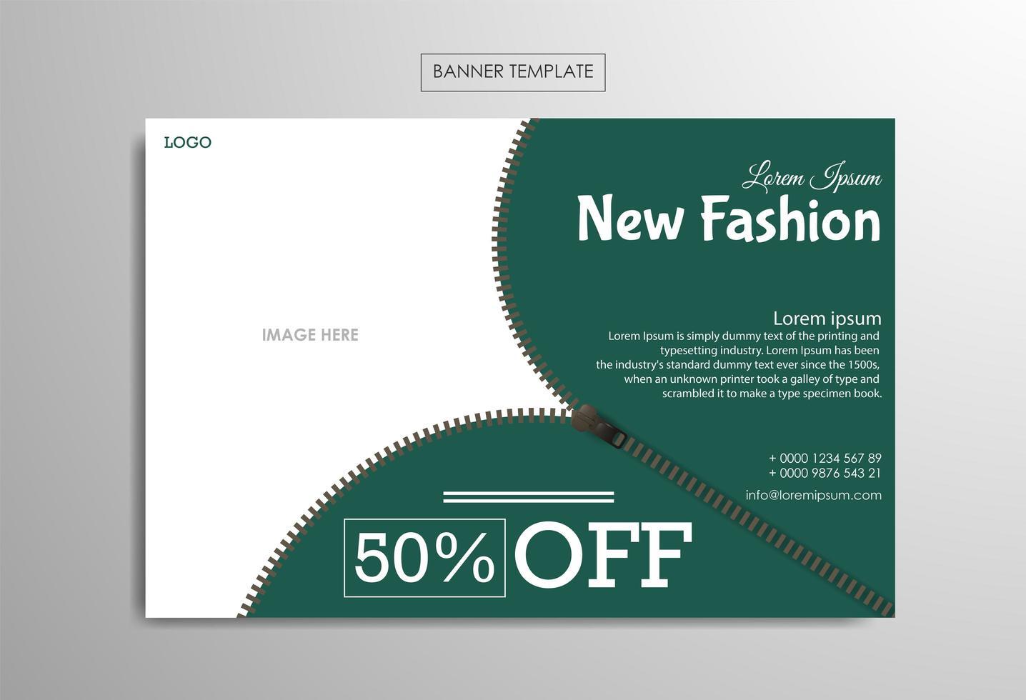 modèle de bannière pour les entreprises de mode vecteur