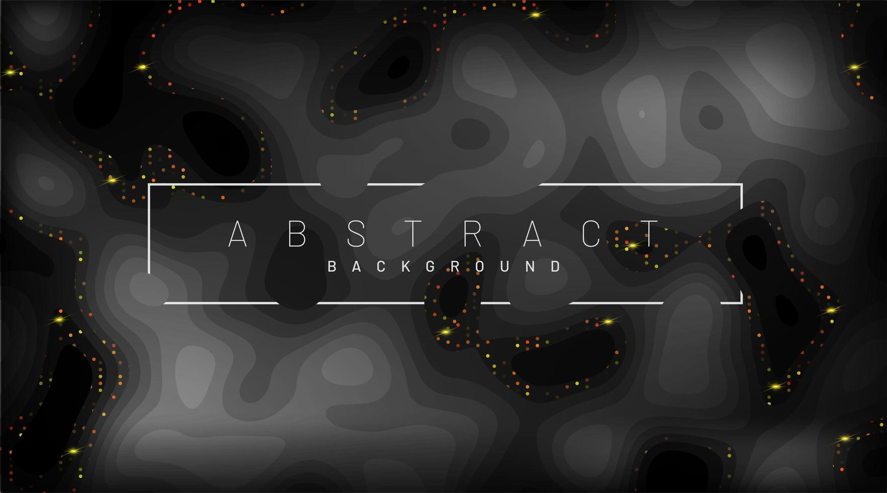 papier noir coupé fond. décorations de morceaux de papier texturés abstraits réalistes avec des couches ondulées et un lustre doré. Illustration vectorielle 3D. modèle de mise en page de couverture. vecteur