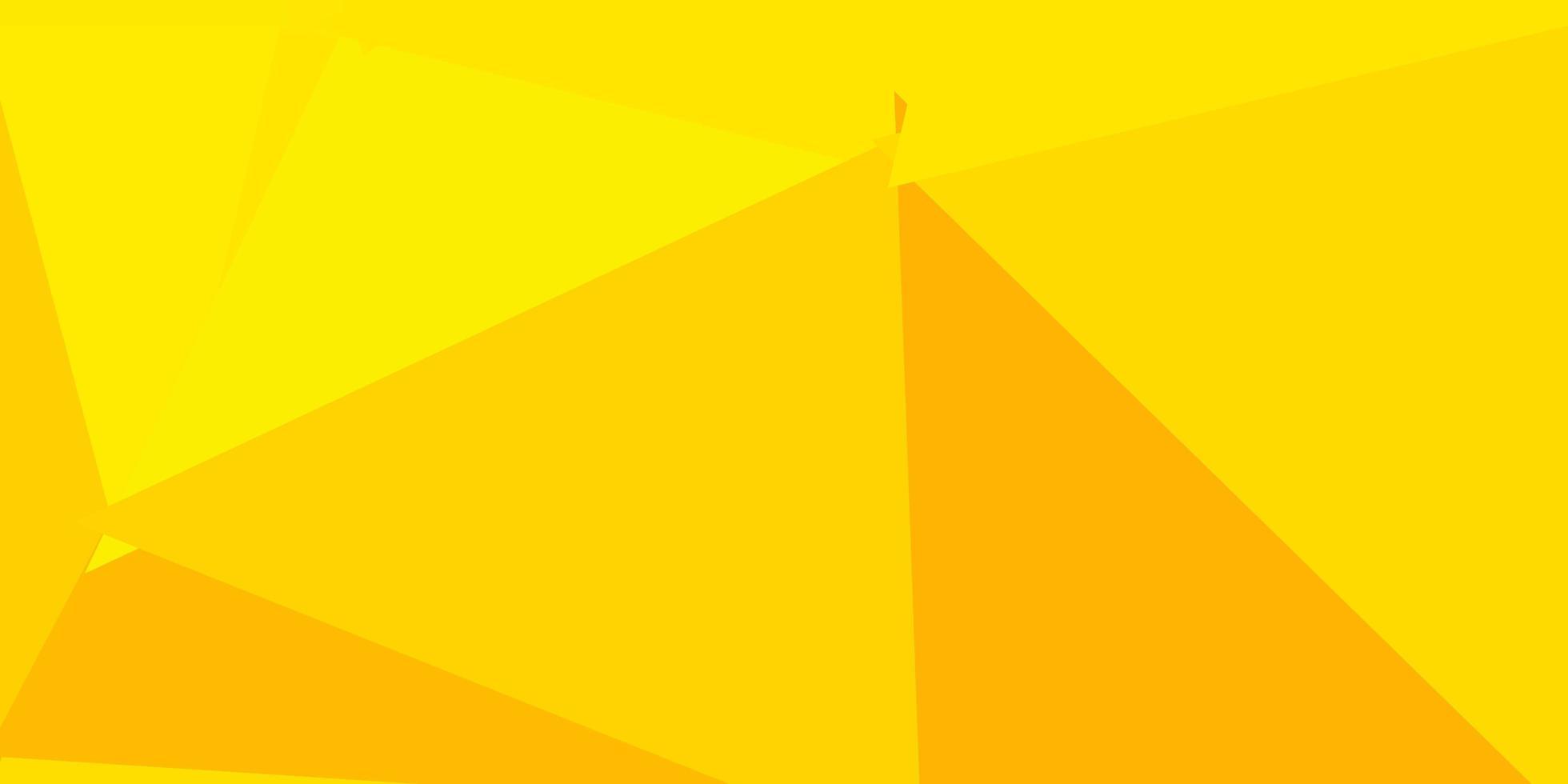toile de fond mosaïque triangle vecteur orange clair.