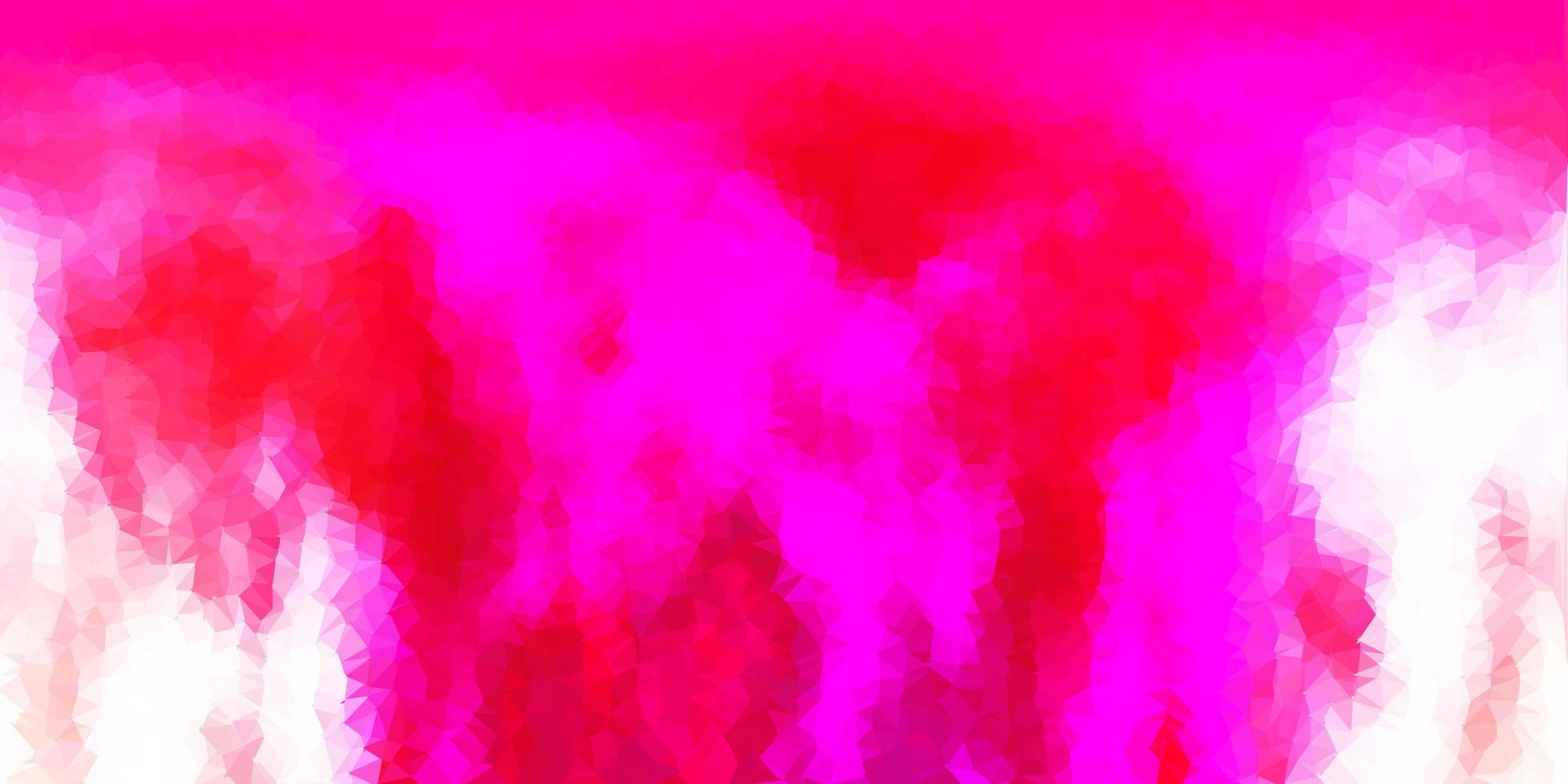 disposition polygonale géométrique de vecteur rose clair.