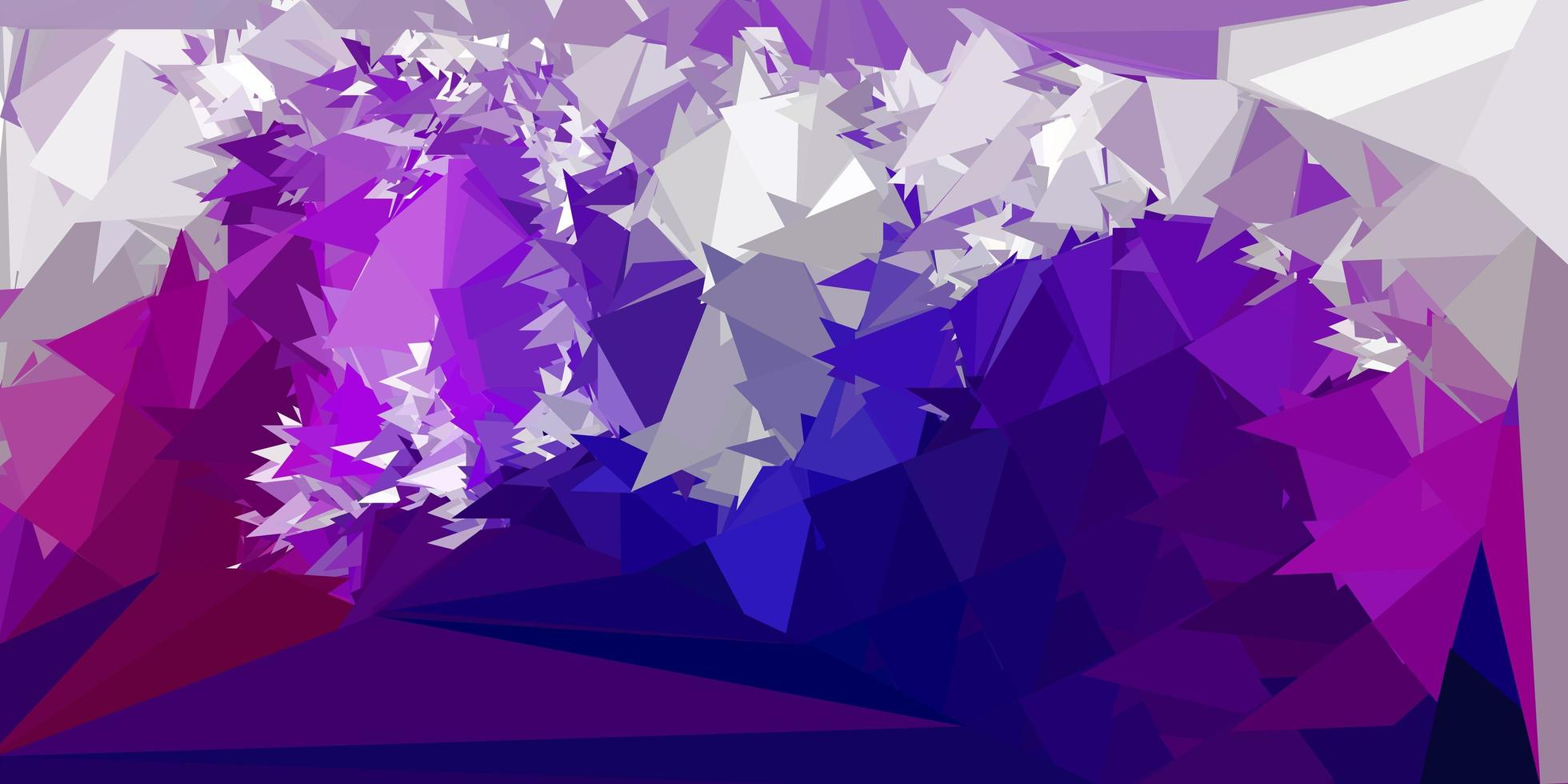 fond de mosaïque triangle vecteur violet foncé, rose