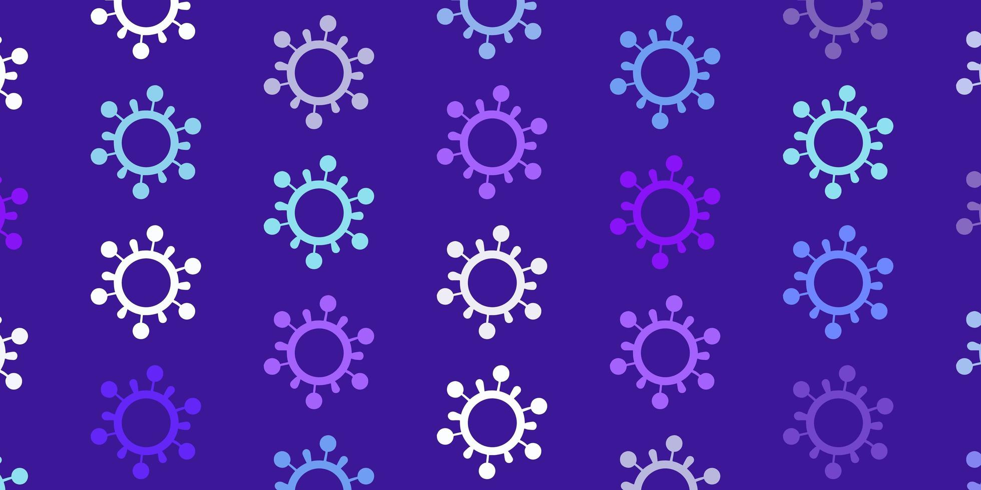texture de vecteur rose clair, bleu avec des symboles de la maladie.
