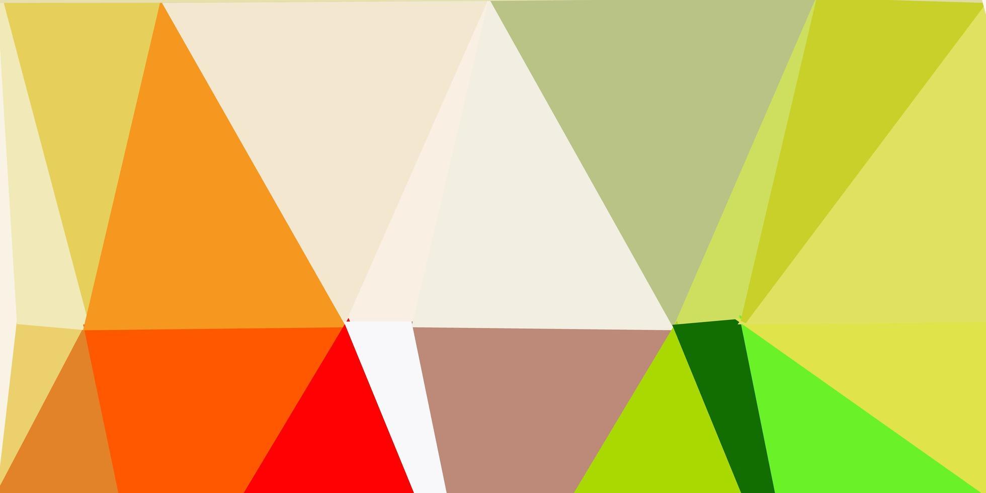 conception de mosaïque triangle vecteur vert clair, jaune.
